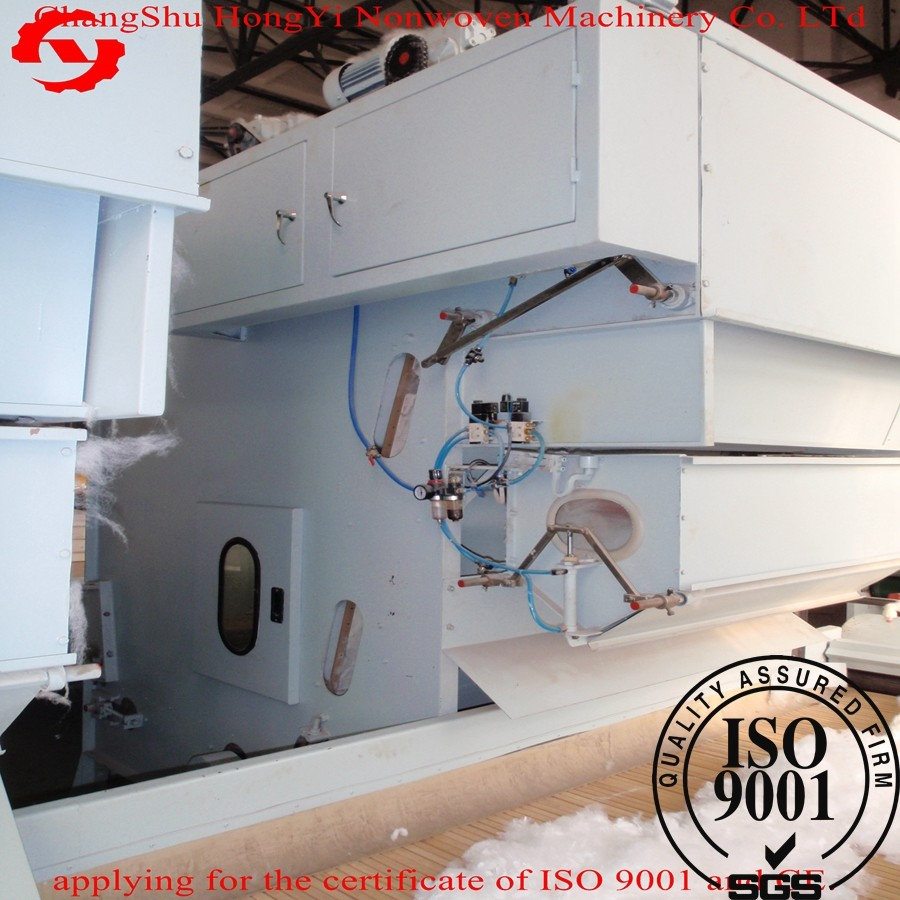Polyester Fiber Cotton Opening Machine For Wadding Making 3.75kw